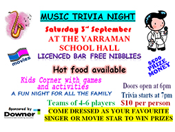 Yarraman P&C trivia night